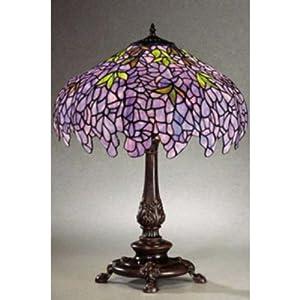chloe lighting ch16828p tl2 tiffany style wisteria 2 light table lamp. Black Bedroom Furniture Sets. Home Design Ideas