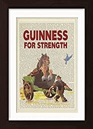 Guinness For Strength Ready To Frame Mounted /Matted Dictionary Art Print