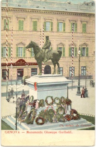 1900 Vintage Postcard Giuseppe Garibaldi Genova