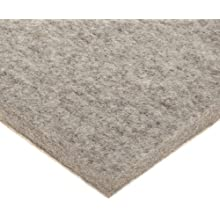 Felt Sheet, Gray, Adhesive-Backed, Grade F7, Wool Content: 80% Minimum, Meets SAE F7 Specifications, Inch