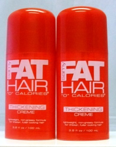 Samy FAT Hair Thickening Creme 3.5 Fl.oz/ 100ml ( 2 Pack)