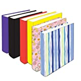 Kittrich Jumbo Sized Stretchable Bookcovers-Solids and Prints, 6 Pieces (BSJ-ASST6-06AM)