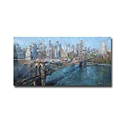 Brooklyn Bridge by Mark Lague Premium Gallery-Wrapped Canvas Giclee Art (Ready-to-Hang)