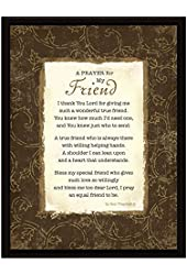 Prayer..My Friend Wood Frame Plaque with Easel