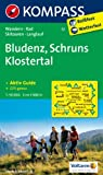 Bludenz - Schruns - Klostertal: Wanderkarte mit Tourenführer, Radwegen, alpinen Skirouten und Loipen. GPS-genau. 1:50000