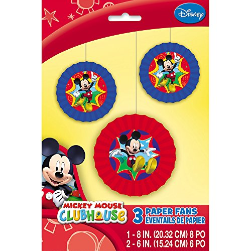 Mickey Mouse Clubhouse Tissue Paper Decorative Fans, 3ct