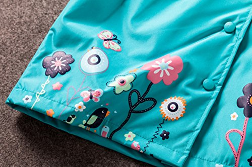Sevenelks Kinder Mädchen Wasserdicht Regenjacke Regenmantel mit Kapuze -