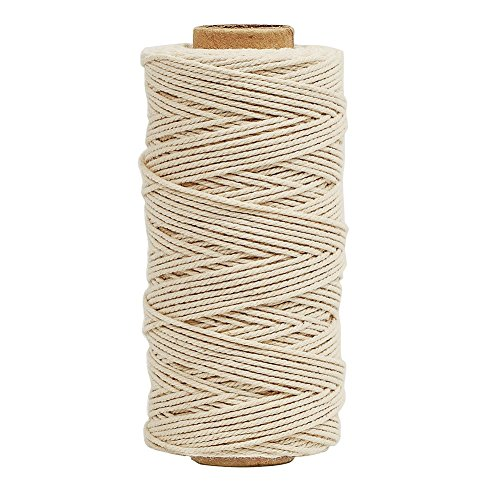 Tenn Well Bakers Twine, 3Ply 109Yard Kitchen Cotton Twine Food Safe Cooking String Perfect for Trussing and Tying Poultry Meat Making Sausage DIY Crafts and Decoration(White) (Butchers Supply compare prices)