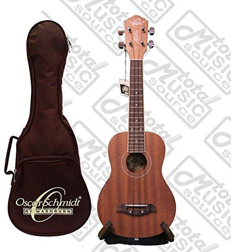 Oscar Schmidt Acoustic Electric Concert Mahogany Ukulele W Gig Bag