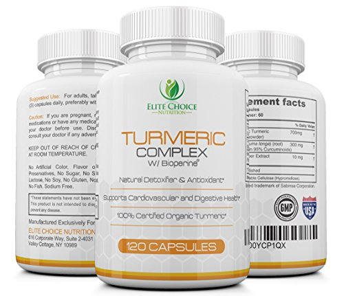 Organic-Turmeric-Curcumin-Complex-120-Capsules-95-Curcuminoids-Bioperine-for-Better-Bioavailability-Best-Value-2-MONTH-SUPPLY-1000mg-per-serving-Maximum-Results-100-Natural