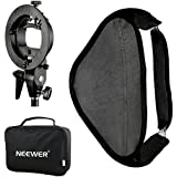 Neewer 80 x 80 cm Softbox with S-Type Speedlite Flash Bracket Mount and Carrying Case