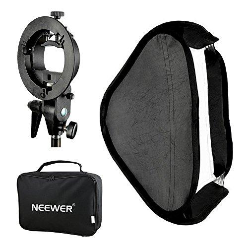 """Neewer® Foto Studio Softbox Multifunzionale 32x32"""" / 80x80cm con Flash Staffa di Montaggio a Forma S & Borsetta per Ritratto o Prodotto Fotografia"""