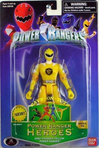 Power Rangers Heroes Dino Thunder Series 16 Action Figure Yellow Ranger by Bandai