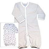 Under The Nile 100% Organic Egyptian Cotton Baby Wrap Convertible sleepsuit 0-6