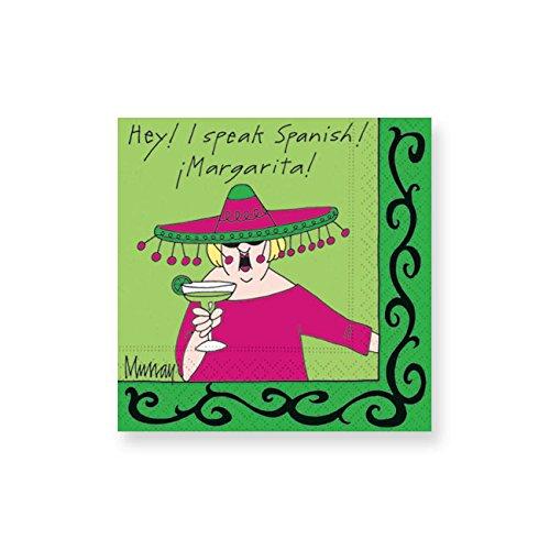 Design Design I Speak Spanish Cocktail Napkins, Multicolor (Margarita Party Napkins compare prices)