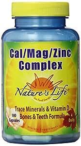 Nature's Life Cal/Mag/Zinc Capsules, 1000/500/15 Mg, 100 Count