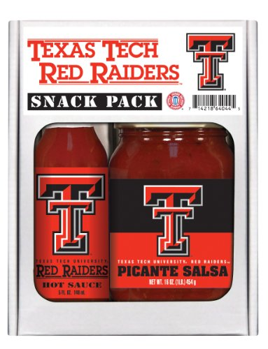 2 Pack TEXAS TECH Red Raiders Snack Pack Hot Sauce Salsa (Texas Sauce Pack compare prices)