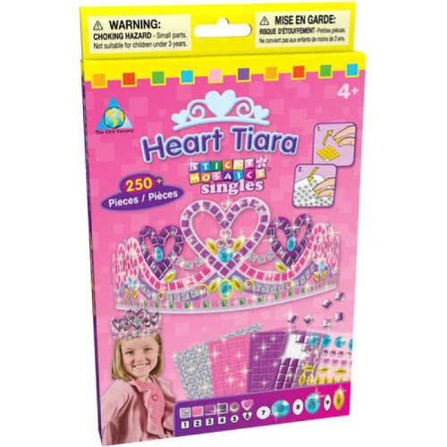 The Orb Factory Sticky Mosaics Heart Tiara Kit