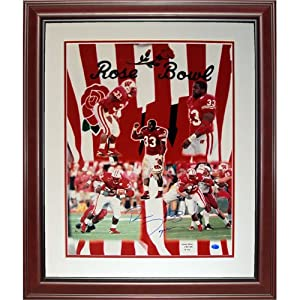 Ron Dayne Autographed Wisconsin Badgers (Rose Bowl MVP LE 500) Deluxe Framed 16x20... by PalmBeachAutographs.com