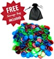 300 Mixed Color Bingo Markers with Free Storage Bag by Royal Bingo Supplies