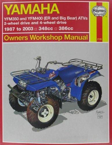 Haynes Yamaha Yfm350 And Yfm400 (Er And Big Bear) Atvs (1987 To 2009)
