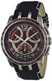 Swatch YRS418 Gents Mental Fame Red Dial with Blue Leather Strap Watch