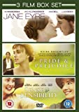 Jane Eyre (2011) / Sense and Sensibility (1996) / Pride and Prejudice (2005) - Triple Pack [DVD]