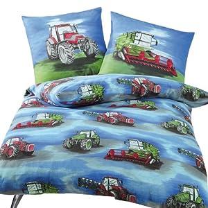 Anaterra 10000912 Parure de lit 1 place avec taie d'oreiller Motif