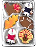 Beautiful Sweets Thanksgiving and Football Organic Cookies