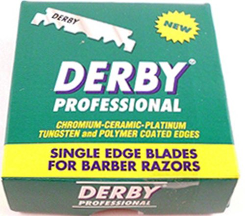 Derby Professional Single Edge Razor Blades, 100 Count (Pack of 2) (Barber Straight Edge Razor Blade compare prices)