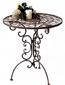 nostalgischer tisch rund tecla metall gartentisch durchmesser 70 cm. Black Bedroom Furniture Sets. Home Design Ideas