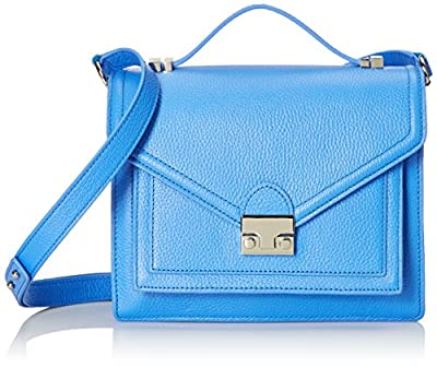 LOEFFLER RANDALL Medium Rider Tumbled Leather Satchel Bag