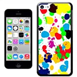 Fancy A Snuggle 'What A Mess Paint Splash Drop and Drips' Hard Case Clip On Back Cover for Apple iPhone 5C