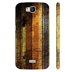 Huawei Honor Bee STRIPEY GRUNGE designer mobile hard shell case by Enthopia