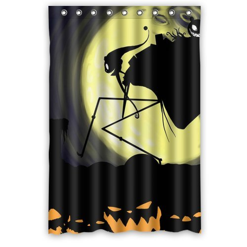 [AnHome Pumkin Demon Moonlight Nightmare Before Christmas Shower Curtain 48
