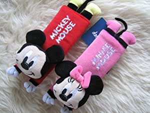Mickey Mouse with Minnie Car Seat Belt Cover Shoulder Pad of 2