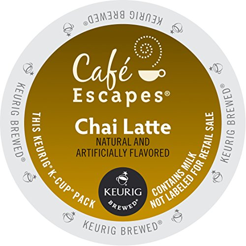 Café Escapes Chai Latte, K-Cup Portion Count for Keurig Brewers, 24-Count