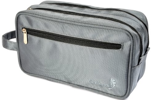 Oakland - Busta beauty case uomo da viaggio large con due scomparti e manico - In nylon