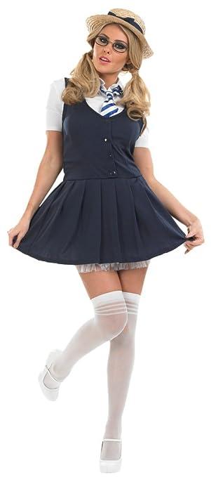 Cheap plus size school girl fancy dress