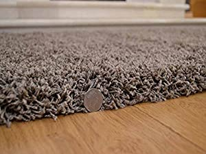 Soft Touch Shaggy Taupe Thick Luxurious Soft 5cm Dense Pile Rug. Available in 7 Sizes by Rugs Supermarket