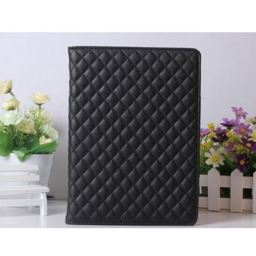 Smart Tech For Ipad Air /Ipad5- Luxury 100% Fashion Vintage Leather Case For Apple Ipad Support Smart Cover Function (Ipad5/Air Case-Geziwen-Black) front-342303