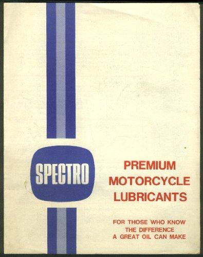 Spectro Premium Motorcycle Lubricants sales folder 1970s