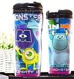 Disney Pixar Monster Inc.Plastic Double Wall Thermos Travel Mug Coffee Tea Cup 13-ounce