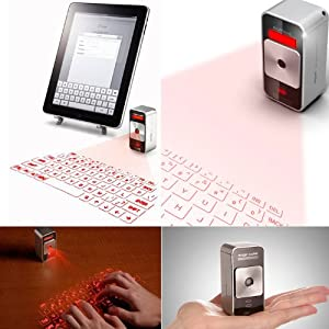 Celluon レーザー投影式キーボード Magic Cube シルバー Bluetooth USB keyboard
