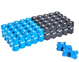 1000-count black and blue Urban Waste Bags on rolls, + 2 blue bone-shaped dispensers