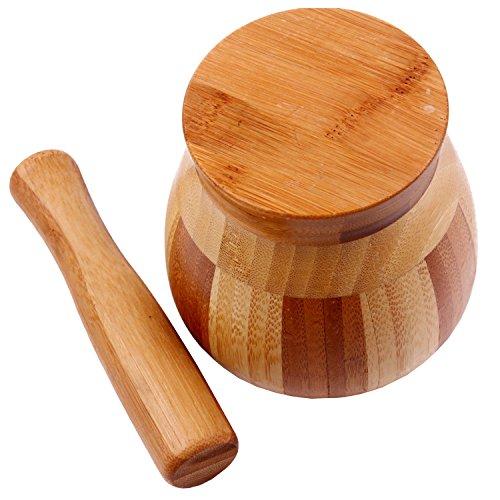 Dopobo® Wooden Rice Ginger Garlic Pestle Aand Mortar Set Kitchen Tools