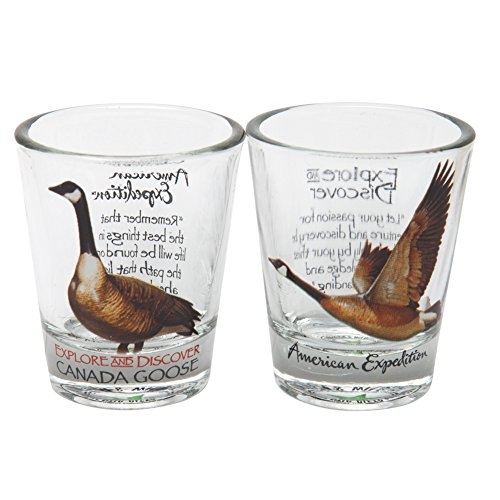 American Expedition 2SHT-145 SET OF - 2 SHOT GLASSES - CANADA GOOSE