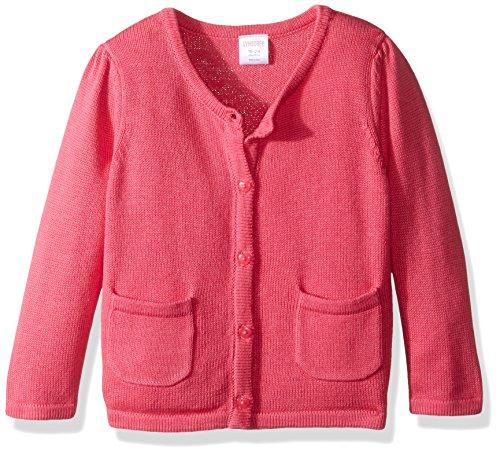 Gymboree Girls' Heart Elbow Sweater, Fandango Pink, 18-24