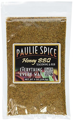 Paulie Spice : Sweet Honey BBQ Gourmet Seasoning and Rub For: Meat, Ribs, Rib, Chicken, Pork, Brisket, Steak, Wings, Turkey, Prime Rib, Fish, Seafood, Grill, Grilling, Barbecue, Smoker, Dry Rubs, Seasonings, Spices, 8 oz