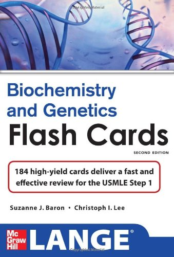Lange Biochemistry And Genetics Flash Cards 2/E (Lange Flashcards)